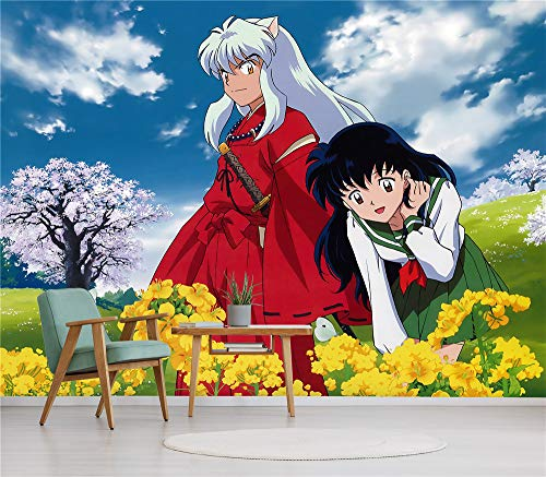 3D Print Anime Wallpaper Mural Wall Mural Wallpaper Cosplay Wall Painting Living Room Bedroom Office Hallway Decoration Wall Decoration Inuyasha 330 x 140 cm (W x H)