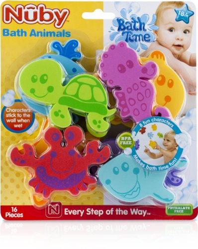 Fantastic Prices! 16-Piece Bath Tub Foam Animal Characters Case Pack 24