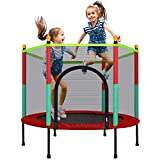 Laulry Kids Trampoline with Safety Enclosure Net - 5FT Trampoline for Toddlers Indoor and Outdoor - Parent-Child Interactive Game Fitness Trampoline Toys for Gift