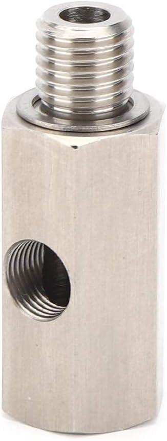1//8 NPT Tee sensore pressione olio 1//8in NPT Connettore alimentazione olio turbo Raccordo ricambi auto in acciaio inossidabile Adattatore alimentazione olio