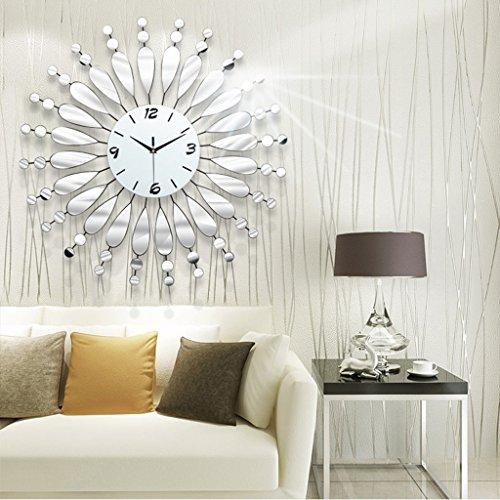Jack Mall- Orologio da Parete Moderno Minimalista Salotto Moda Orologio al Quarzo Muto Specchio Creativo Continentale