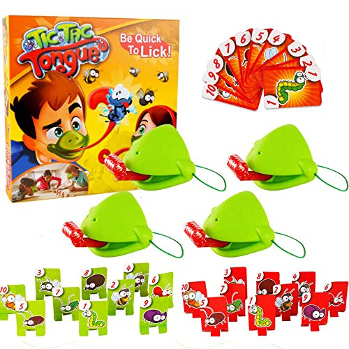 Tic Tac Tongue Game - Catch Bugs Spiel Familienbrettspiel Joint Take Card-Eat Pest Car Doppelspiel Desktop Brettspiele für Familientreffen, Weihnachtsgeburtstagsgeschenke