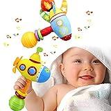 aovowog Sonajero de Juguete Muñeca de Peluche Sonajero de Juguete Felpa bebé Instrumento Sentido Bebé Infantil 3 6 9 12 Meses