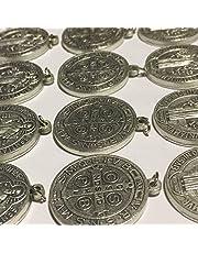 Lote de 25 medalla colgante del santo Benito de Nursia contra el mal, 30 mm