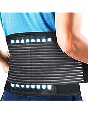 HLOMOM Faja lumbar de gran protección, compresión ajustable, transpirable, para gimnasio, postura, levantamiento de pesas, trabajo, alivio del dolor