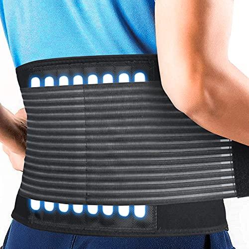 HLOMOM Rückenbandage für die Lendenwirbelsäule - breiter Schutz - verstellbare Kompression - atmungsaktiv - für Fitnessstudio, Haltung, Gewichtheben, Arbeit, Schmerzlinderung Rückenstützgürtel