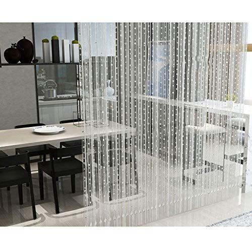 BLSTY Kristallen Quaste Line Vorhang Perlenvorhang, Raumtrennung Perlenvorhang Trennwand Fenster Vorhang für Wohnzimmer Schlafzimmer Hochzeit Party Dekoration-10Pcsx2.0m-Transparent