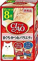 (まとめ買い)いなばペットフード CIAO チャオ パウチ まぐろ・かつおバラエティ 40g×8袋 猫用フード 【×6】