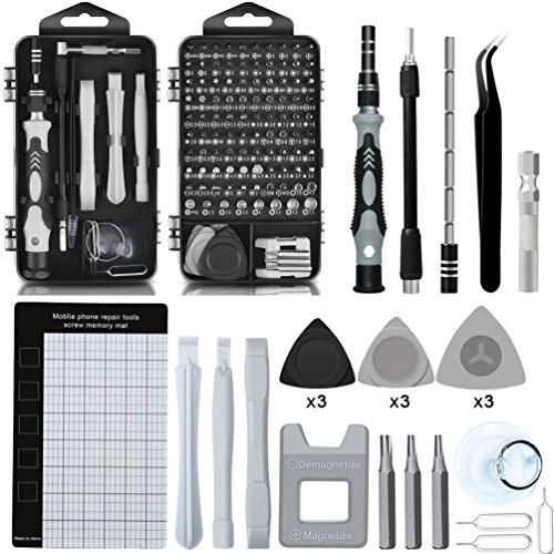 Precision Screwdriver Set Magnetic - Mini 124 in1 Professional Screw driver Tools Sets, PC Repair Tool Kit for Mobile Phone Tablet Computer Watch Camera Eyeglasses Electronic Devices DIY Hand Work