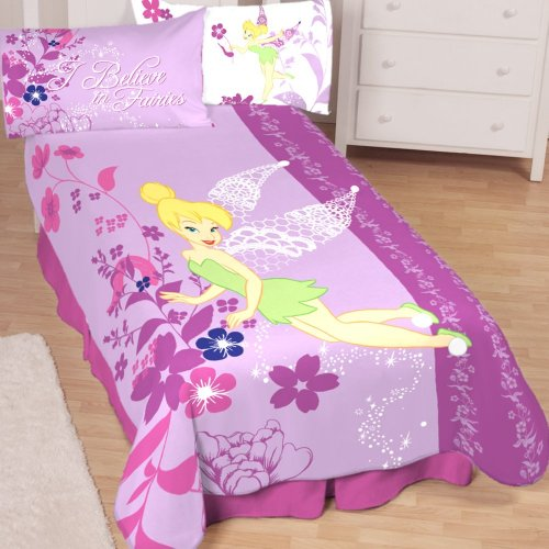 pretty purple girly girls tinkerbell bedding