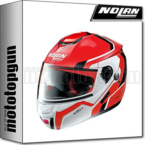 NOLAN CASCO MOTO MODULARE N90-2 MERIDIA NUS CORSA ROJO 033 SZ. M