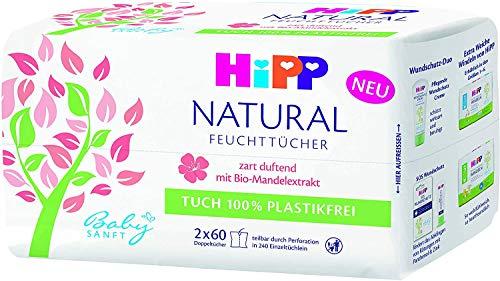 Hipp Babysanft Feuchttücher NATURAL zart duftend 4 x 60 Feuchttücher
