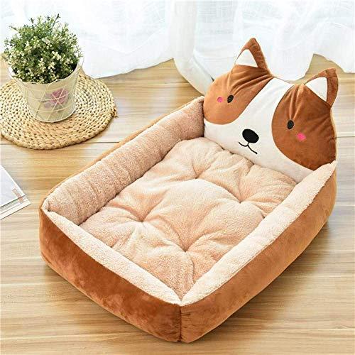 HAOSHUAI Haustier-Bett, Cartoon Kaffee-Farben-Haustier-Bett-Soft-Zwinger Winter warm Tierbedarf Haus for Katzen-Matten-Bett for Small Medium Large Dog verdicken Lounger Sofa, L (Size : XL)