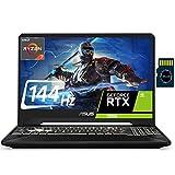 Asus TUF 15 2021 Premium Gaming Laptop I 15.6'FHD 144Hz I AMD 4-Core Ryzen 7 3750H ( i7-8750H) 16GB DDR4 512GB SSD 1TB HDD GeForce RTX 2060 6GB RGB Backlit Webcam Win 10 + Delca 32GB Micro SD Card