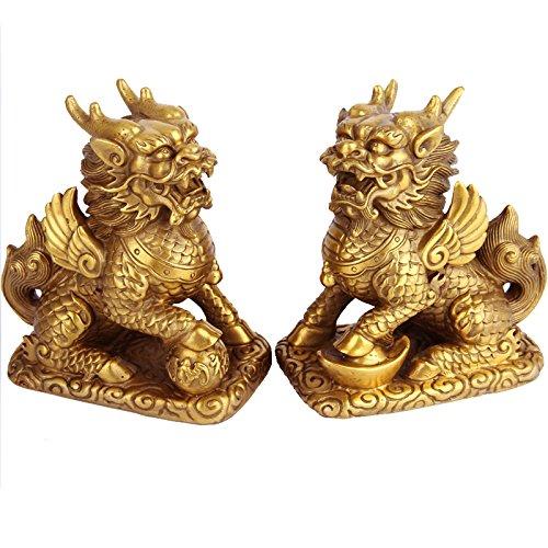 Figura Buda S/ímbolo Suerte Fortuna Riqueza Feng Shui Oriental Chino,Gold Lat/ón Mano Craf AQAWAS Estatuas Escultura de Cobre Puro contempor/áneo Taishang Laojun
