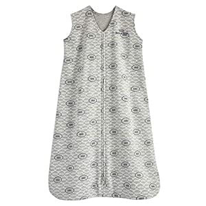 HALO Sleepsack 100% Cotton Wearable Blanket, Footballs, Medium
