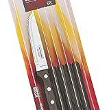 """Tramontina 29899-159 Gaucho 5"""" Steak-Pizzamesser 6 Messer Grillen BBQ Pizza 6-teilig braun"""