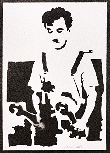 Charlie Chaplin Poster Charlot Modern Times Plakat Handmade Graffiti Street Art - Artwork