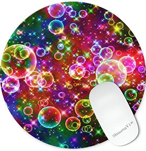 Shuangyi Colorful Bubbles Mousepad Anti-Slip Round Mouse Pads Mouse Pad Mat Mice Mousepad Desktop Mouse pad Laptop Mouse pad Gaming Mouse pad