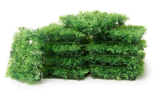 10 Grassmatten grün Kunstrasen 13x13cm Deko Basteln VBS Großhandelspackung