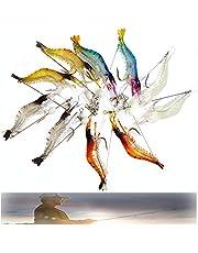 Xkfgcm 10 Piezas PVC Cebo para Camarones Set Señuelo Suave Camarones Luminosos Camarones Biónicos Pesca con Anzuelos Perlas Aparejos Señuelos de Cebo Spinner Gancho Pesca Tackle Anzuelo Longitud 48mm