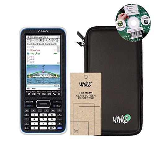 Streberpaket: Casio Classpad II (FX-CP 400) + Erweiterte Garantie + Lern-CD (auf Deutsch) + Schutztasche + Displayschutzfolie