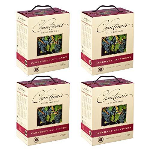 Bag-in-Box - Vin de Pays d'Oc - Cabernet Sauvignon - Chantenais - Frankreich - Languedoc-Roussillon - Rotwein, trocken, Box mit:4 Boxen