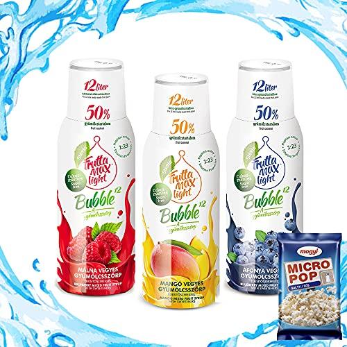 Light Low-Carb Fitness-Sirup Himbeere-Mango-Heidelbere von Frutta Max light   Ohne-Zucker   mit Stevia   50% Fruchtanteil 3erPack(3x500ml)