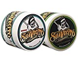 Suavecito Duo Bundle. Original Unscented (4 ounce) and Matte Pomade (4 ounce) Variations. Strong Hold Styling Hair Pomades for Men.