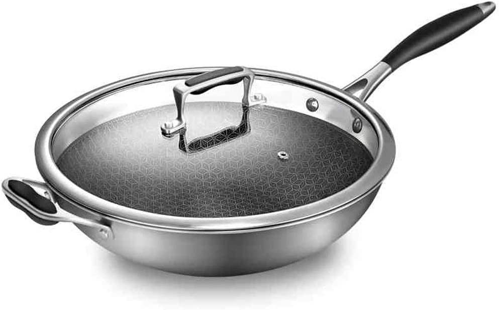 convenient Stainless Steel Non overseas Tempered With National products Stick Wok,Wok