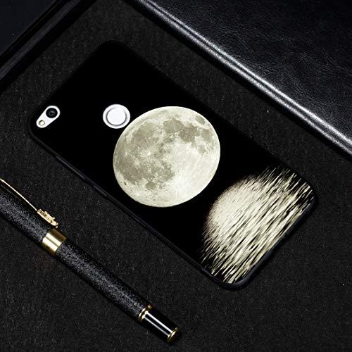 LICHONGGUI Estuche de TPU Suave con patrón Pintado a la Luna for Huawei P8 Lite (2017)