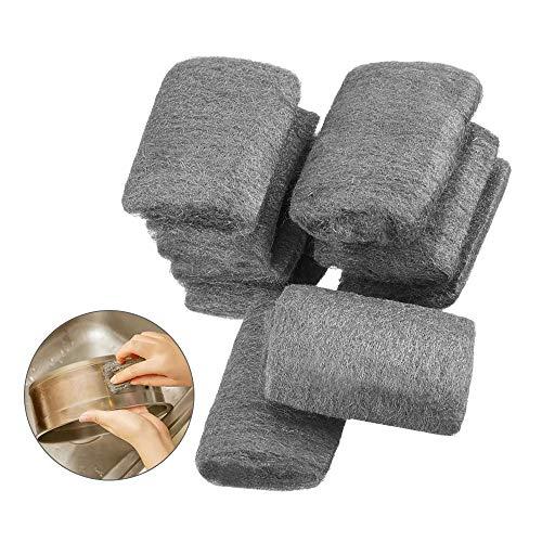 Gobesty Stahlwolle, 9 PCS Metall Polierset Feinheitsgrad Fein Grob Mittel Feinreinigung Draht Wolle Pads Polieren Stahl Wolle