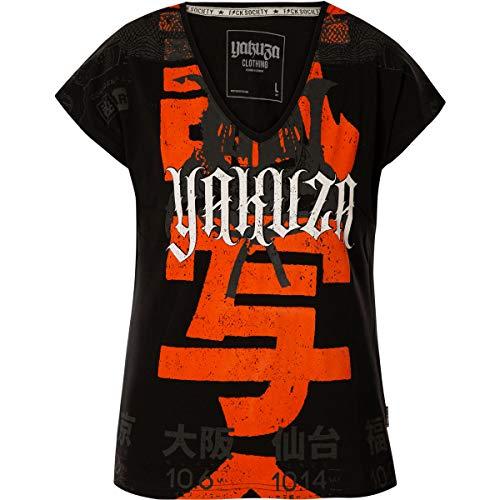 Yakuza Damen Sick Nippon V-Neck T-Shirt