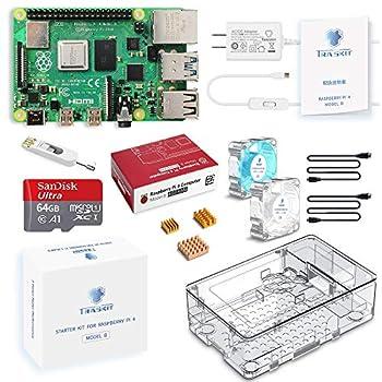 TRASKIT Raspberry Pi 4 Model B Starter Kit