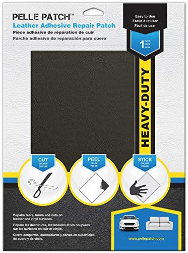 Pelle Patch - Parche Adhesivo de reparación para Cuero y Vinilo - Disponible en 25 Colores - Heavy-Duty 20cm x 28cm - Gris Oscuro