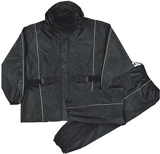 Nexgen Men's Waterproof Rain Suit (Black, 4X-Large)