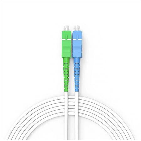 ARMANN® CORDON/CABLE/RALLONGE FIBRE OPTIQUE 10M FREEBOX JARRETIÈRE FIBRE OPTIQUE SC-APC VERS SC-UPC BLANC