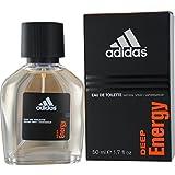 Adidas Deep Energy Eau De Toilette Spray for Men, 1.7 Ounce