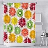 Duschvorhangs Wasserdicht Anti-Schimmel Obst Duschvorhang Textil Polyester Fabric Mit 12 Haken Für Badewanne Und Duschkabine 150 X 180 cm