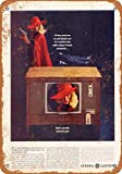 22,9x 30,5cm metal Sign–1963General Electric Color televisión–, diseño clásico de reproducción