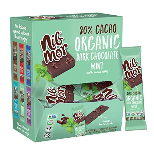 nib mor Organic Dark Chocolate Snack Size Bars |...
