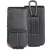 DAYNEW für 5.1 Zoll Universal-PU-Leder Hüfttasche Handytasche Tasche Smartphone Xiaomi Redmi 5A/Redmi Y1/Redmi Y1 Lite-Schwarz