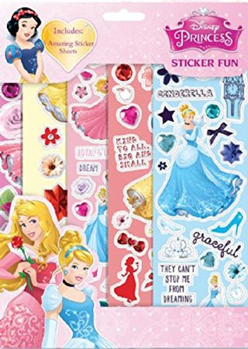 Disney Princess 5 Sheets Reusable Sticker Fun Birthday Xmas Party Bag Filler