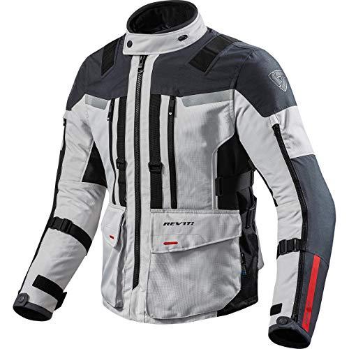 REV'IT! Motorradjacke mit Protektoren Motorrad Jacke Sand 3 Textiljacke Silber/anthrazit M, Herren, Enduro/Reiseenduro, Ganzjährig