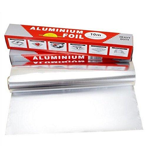 SWIHEL Papel de Aluminio, Rollo de Papel Aluminio, Resistente contra Roturas Herramientas Profesional para cátering, Barbacoa o Hacer Picnic.