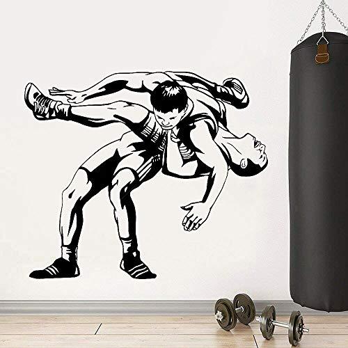 wZUN Calcomanías de Pared de Lucha Libre Centro de Fitness decoración del hogar Deportes de Lucha Pegatinas de Pared de Vinilo decoración de Gimnasio 50X42cm