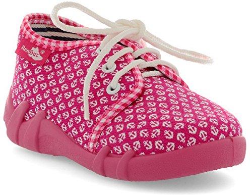 Meisjes Canvas Schoenen Slippers Sandalen Baby Kids Peuter 6UK / 23EU - 14.5cm Magenta Ankers
