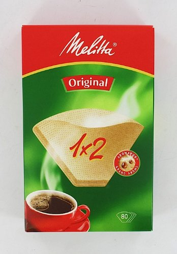 Melitta Two Cup Coffee Filter Brown Pack of 80