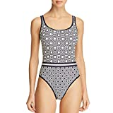 Tory Burch Swimwear Geo Octagon Square Tank Suit Tory Navy XS (Women's 0-2)