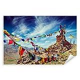 Postereck - 2595 - Gebetsfahnen, Buddhismus Himalaya